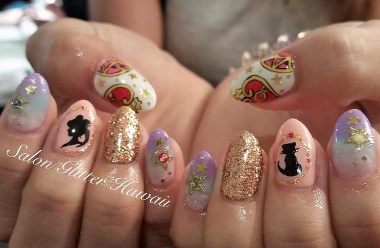 The Most Sparkly Sailor Moon Nails